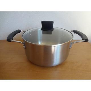 MUJI (無印良品) - 無印良品 両手鍋 20cm ガラス蓋付 新品・未使用