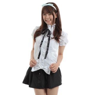 ハロウィン コスプレ 女子高生 コスチューム 仮装 cjk3(衣装一式)