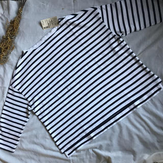 ムジルシリョウヒン(MUJI (無印良品))の♡新品♡無印良品 ボーダー ロング カットソー Tシャツ(カットソー(長袖/七分))