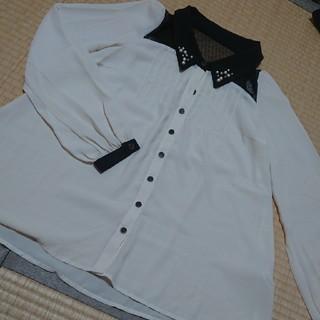 シマムラ(しまむら)の◇ビジューシャツ(シャツ/ブラウス(長袖/七分))