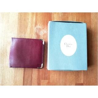 クリスチャンディオール(Christian Dior)のクリスチャン・ディオール 折りたたみ財布 赤茶(折り財布)