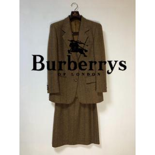 バーバリー(BURBERRY)のバーバリー ツイード スーツ 冬用 フォーマル 大きめ(スーツ)