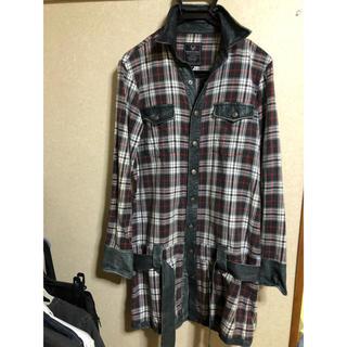 バックボーンザベイシス(BACK BONE THE BASIS)のバックボーンディアスキンロングチェックシャツ(シャツ)