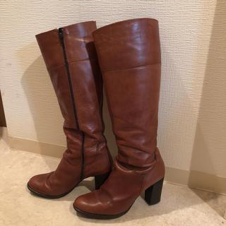 ロングブーツ EU41 ブラウン(ブーツ)
