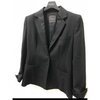 フォクシー(FOXEY)のフォクシーfoxy ジャケット 黒42美品なつさん専用 インナー付きで(テーラードジャケット)