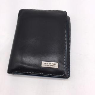 バーバリーブラックレーベル(BURBERRY BLACK LABEL)のBURBERRY BLACK LABELレザー折財布(折り財布)