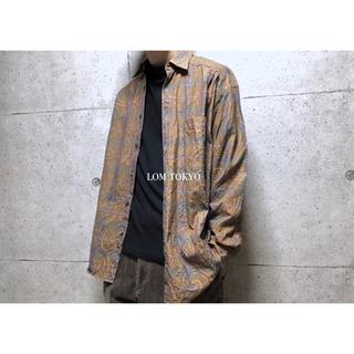 [used]'FALKE' brown plaid shirt.(シャツ)