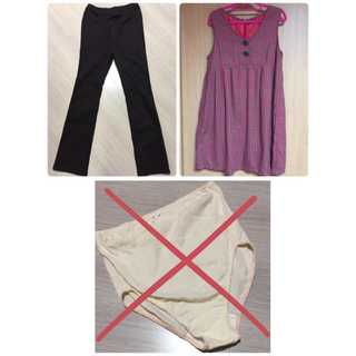 ムジルシリョウヒン(MUJI (無印良品))のマタニティ セット ワンピース パンツ ショーツ 妊婦服 (マタニティボトムス)