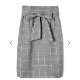 グレイル(GRL)のフロントリボングレンチェックタイトスカート[tw740](ひざ丈スカート)