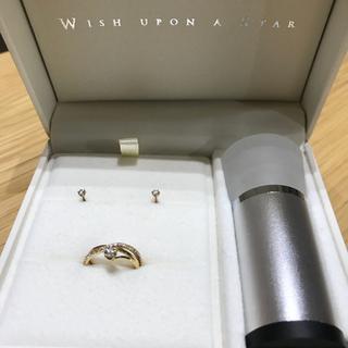 festaria フェスタリア ピンキーリング&ピアス セット k18 (リング(指輪))