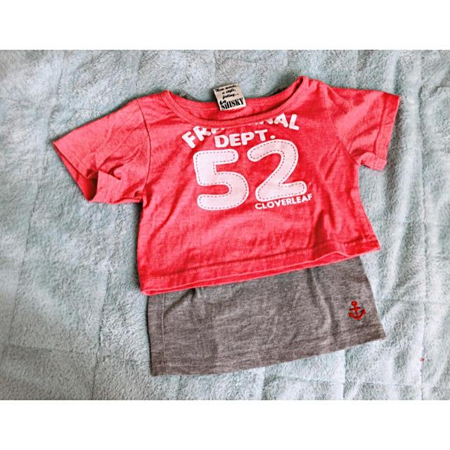 しまむら(シマムラ)のTシャツ&タンクトップ キッズ/ベビー/マタニティのキッズ服 女の子用(90cm~)(Tシャツ/カットソー)の商品写真