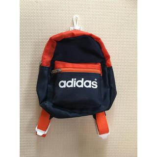 アディダス(adidas)のアディダス adidas ミニリュック ネイビー オレンジ(リュック/バックパック)