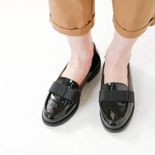ディエゴベリーニ(DIEGO BELLINI)のDIEGO BELLINI ディエゴベリーニ リボンローファー ブラック 37(ローファー/革靴)