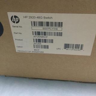 ヒューレットパッカード(HP)のHP J9728A 2920-48G Switch(新品・未開封品)(PC周辺機器)
