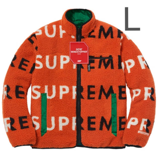 シュプリーム(Supreme)のSupreme Reversible Logo Fleece Jacket L(ブルゾン)
