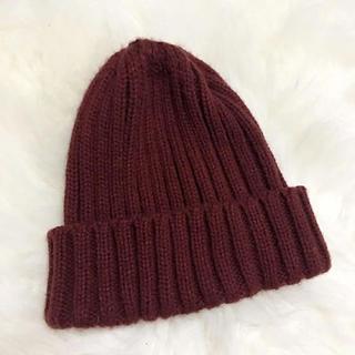 ブラウニー(BROWNY)のボルドー ニット帽(ニット帽/ビーニー)