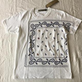 アユイテ(AYUITE)の【新品 未使用】AYUITE 定価10000円 Tシャツ アユイテ バンダナ 白(Tシャツ/カットソー(半袖/袖なし))