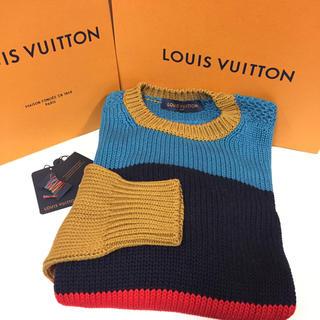ルイヴィトン(LOUIS VUITTON)のa-chi様専用 ルイヴィトン ストライプ クルーネック セーター 新品同様!(ニット/セーター)