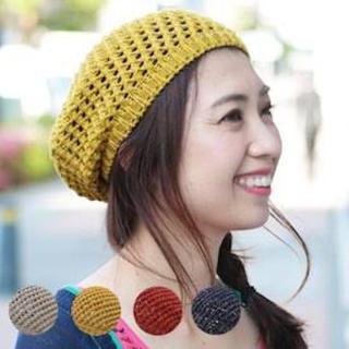 チチカカ(titicaca)のライトグレー チチカカ 綿麻ベレー帽 未使用タグなし【即購入OK】(ハンチング/ベレー帽)