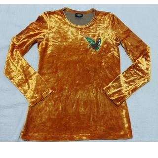 オゾンロックス(OZONE ROCKS)のオゾンコミュニティ OZON COMMUNITY ベロア ロンT  オレンジ(Tシャツ(長袖/七分))