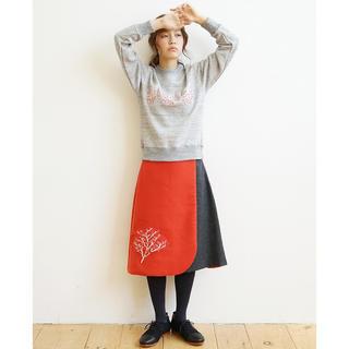 ミナペルホネン(mina perhonen)のrikolekt リコレクト fuyugasumi スカート(ひざ丈スカート)
