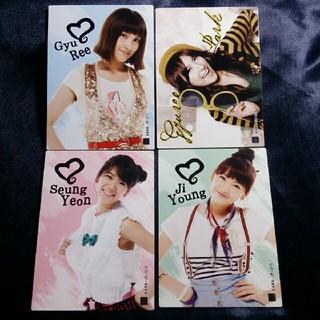バンダイ(BANDAI)のコレクションカード KARA おまとめ 4枚セット B(アイドルグッズ)