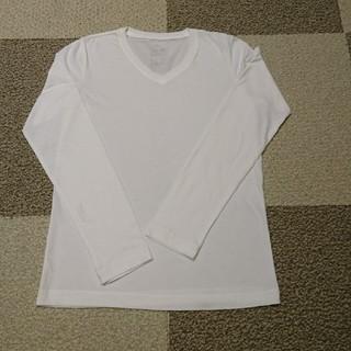 ムジルシリョウヒン(MUJI (無印良品))の超美品一度着用!! 無印良品☆Vネック長袖Tシャツ XS(Tシャツ(長袖/七分))
