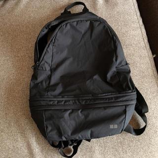 ユニクロ(UNIQLO)のUNIQLO ユニクロ リュック バックパック ポケッタブル 黒 タグ付き(バッグパック/リュック)
