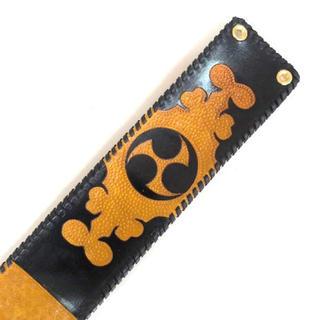 三線 胴巻き ティーガー 高級本牛革 レザーカービング イエロー&ブラック(三線)