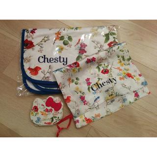 チェスティ(Chesty)のチェスティ💞豪華三点セット ブランケット&巾着ポーチ&キティちゃんミラー(その他)