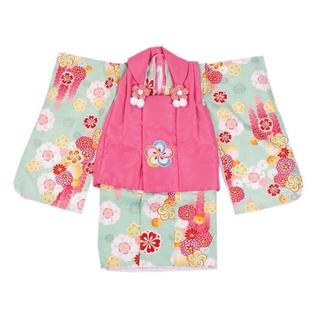 小町kids 3歳 女の子 着物 被布着 七五三 753 セット(和服/着物)