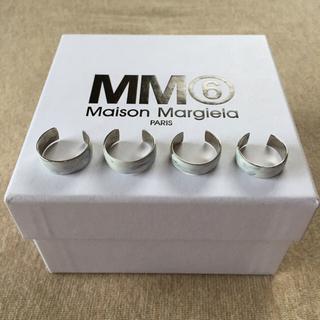 マルタンマルジェラ(Maison Martin Margiela)の18SS新品M マルジェラ MM6 4連リング シルバー  (リング(指輪))