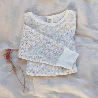 ロキエ(Lochie)の♡ 花柄 サーマル ロンt ♡(Tシャツ(長袖/七分))