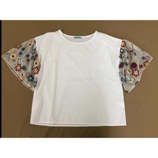 サラナン(saranam)の袖刺繍チュールブラウス(シャツ/ブラウス(半袖/袖なし))
