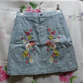 ダブルネーム(DOUBLE NAME)の刺繍スカート(ミニスカート)