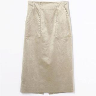 デプレ(DES PRES)のDES PRES ベルベットタイトスカート(ロングスカート)