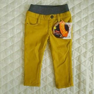 シマムラ(しまむら)の【新品】のびッパ 80センチ 中黄色 裏起毛(パンツ)