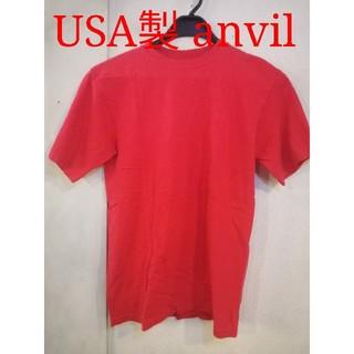 アンビル(Anvil)の古着 M アンビル 無地 Tシャツ レッド(Tシャツ/カットソー(半袖/袖なし))