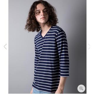 ガルヴァナイズ(Galvanize)のgalvanize ガルヴァナイズ Vネック ボーダー Tシャツ(Tシャツ/カットソー(七分/長袖))
