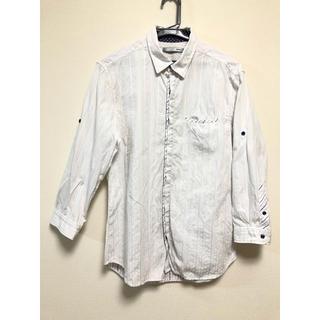 エービーエックス(abx)のabx メンズ ランダムストライプ 七分袖 シャツ ホワイト(シャツ)