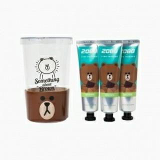 LINE FRIENDS韓国公式 ブラウン 歯磨き粉 1本(歯磨き粉)