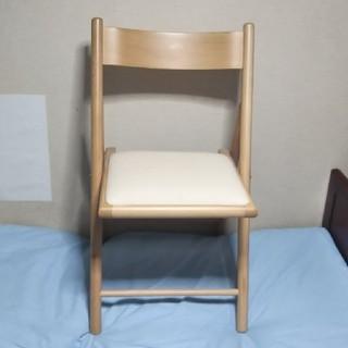 ムジルシリョウヒン(MUJI (無印良品))の折り畳み式木製椅子(折り畳みイス)