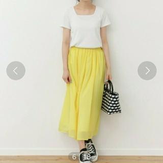 サニーレーベル(Sonny Label)のソニーレーベル イエロー スカート【セール】(ひざ丈スカート)
