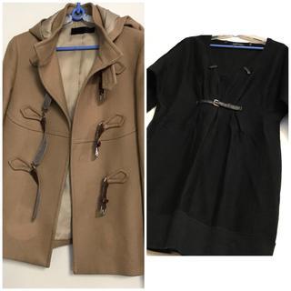 ウールのハーフコートと七分袖ワンピース 2着セット(その他)