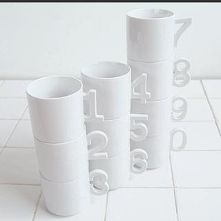 アダムエロぺ(Adam et Rope')の+d ナンバーカップ 6個セット 未使用品(グラス/カップ)