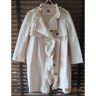 エイト(8iGHT)のトレンチ風コート 八分袖 防寒性はない薄いコート Aライン(トレンチコート)