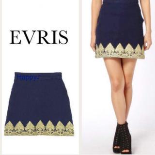 エヴリス(EVRIS)の新品 ★ 刺繍 デニム スカート ★ EVRIS エヴリス EATME ZARA(ミニスカート)