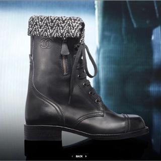 シャネル(CHANEL)のCHANEL シャネル レースアップ ブーツ ココマーク(ブーツ)