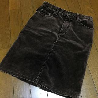 ココボンゴ(COCOBONGO)のココボンゴ コーデュロイスカート キャメル(ミニスカート)