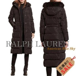 b809b0189f099 ラルフローレン(Ralph Lauren)のラルフローレン ロングコート ダウン ブラック(ダウンコート